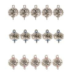 5 Pieces Crystal Magnetic Clasp Drum Ball DIY Necklace Bracelet Clasp Pink