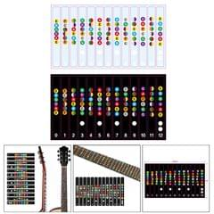 Learn Guitar Fingerboard Note Decal Scale Sticker for Electric Guitar Clear