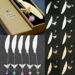 Retro Butterfly Metal Bookmark Stationery Movie Book Mark Kids Gift Silver A