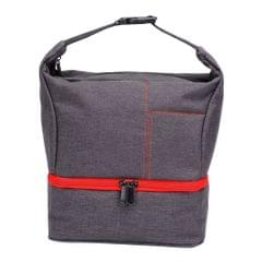 Portable Carry Case/Pouch/Bag Universal For SLR Camera w/ Strap Gray+Red