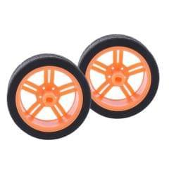 2pcs Rubber Tire TT Motor Car Wheel RC Model DIY Toy Car accessories  #3
