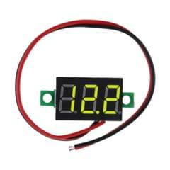 0.28 Inch 2 Wire LED DC2.5-30V Voltmeter Digital Voltage Meter Tester Yellow