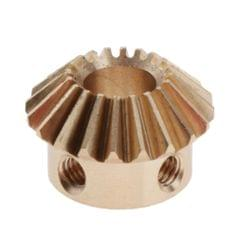 1 Modulus Brass Bevel Gear 20th,5 to 6.35mmhole 8mm Hole M4x2 Copper