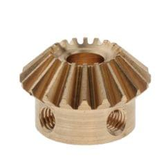 1 Modulus Brass Bevel Gear 20th,5 to 6.35mmhole 6mm Hole M4x2 Copper
