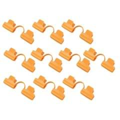 10x Greenhouse Film Netting Tunnel Hoop Clips Clamps 2 Head_Yellow_11mm