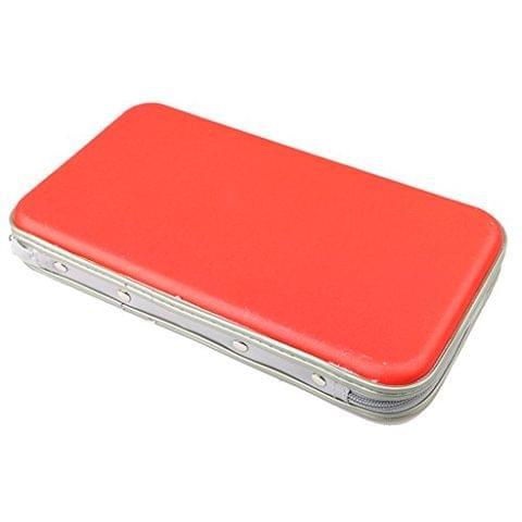 80Disc CD DVD VCD Album Wallet Holder Carry Bag Case for Media Storage Red