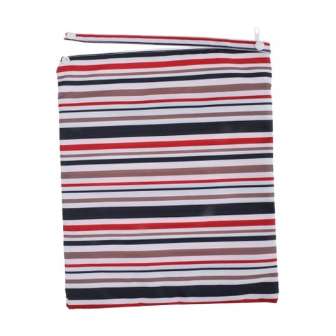 Fashion Mummy Cloth Diaper Bag Wet Dry Zipper Striped Tote Nappy Bag