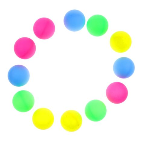 12 Pieces Assorted Color Beer Pong Balls Table Tennis Balls Entertainment Party Toy Balls