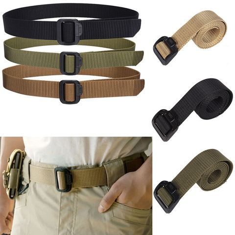 Adjustable Nylon Belt Waistband For Riding War Game Outdoor Sports Travel Accessory Khaki