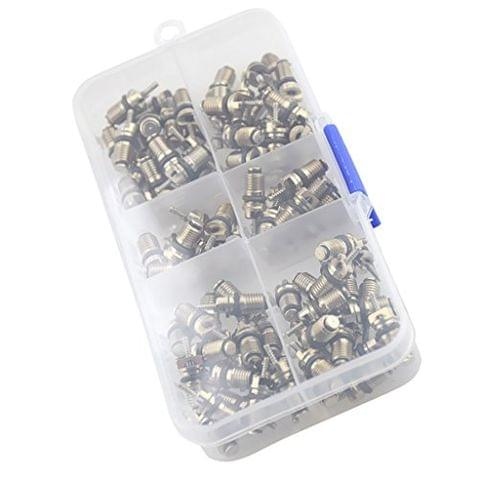 110 Piece High Pressure A/C Valve Core Schrader Valves Air Conditioning Tool
