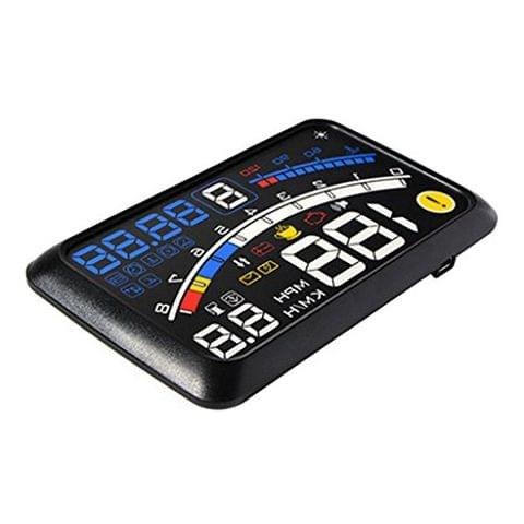 Generic Universal 5.5HD Car HUD Heads Up Display Speed Warning Fuel Consumption OBD2 OBDII EUOBD for Safety Fresh Driving