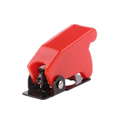 Generic Car Red Cover LED Light SPST Toggle Rocker Switch Control On/Off Proctector