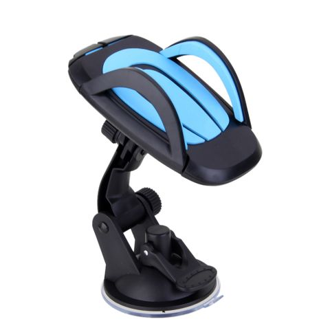 Windscreen Rotating Phone GPS Dashboard Holder Stand Car Interior Accessories Blue