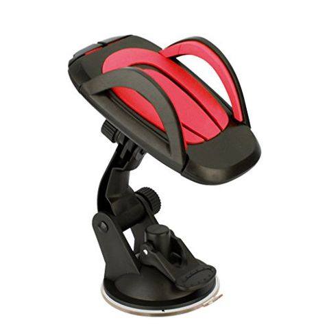 Windscreen Rotating Phone GPS Dashboard Holder Stand Car Interior Accessories Red