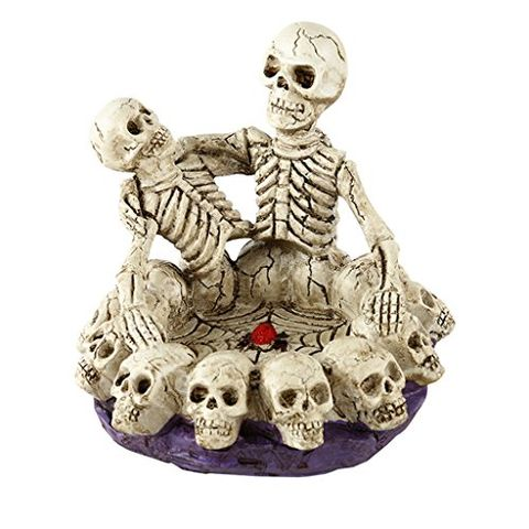 Human Skull Head Ashtray Holder Skull Skeleton Head Resin Statue Art 16cm