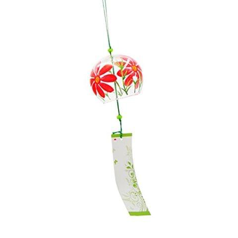Generic Japanese Culuture Glass Bells Furin Wind Chimes Home Hanging Decor Daisy