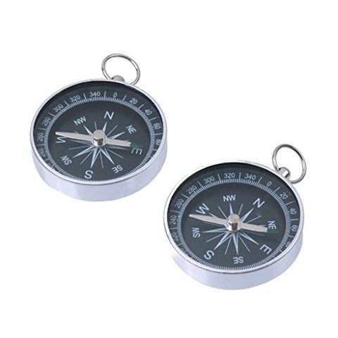 Aluminum Mini Keychain Ring Precise Compass Metal Accurate Compact Outdoor Hiking
