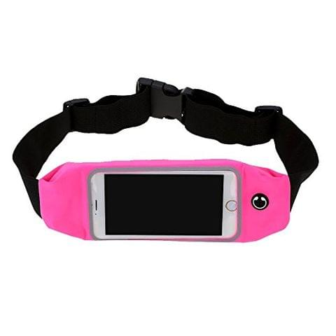 Multi-Functional Running Zipper Pockets Waist Bag Pack - Rose Red