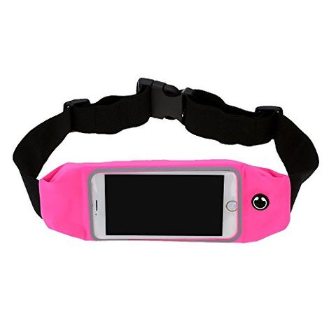 5.5 inch Touch Screen Waist Pack Pouch for Running Sports - Rose Red