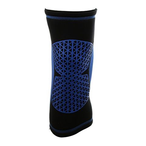Sports Basketball Soccer Running Cycling Knee Support Protective Gear Soft Sweat Absorbing Sleeve Kneepad Brace -Blue XL