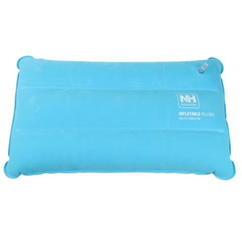 Comfortable Fatigue Relief Inflatable Travel Sleep Pillow Compact Air Cushion Neck Head Rest Pillow Sky Blue
