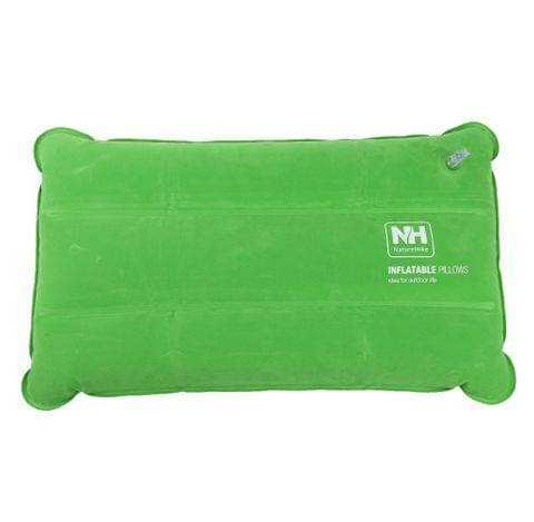 Comfortable Fatigue Relief Inflatable Travel Sleep Pillow Compact Air Cushion Neck Head Rest Pillow Green