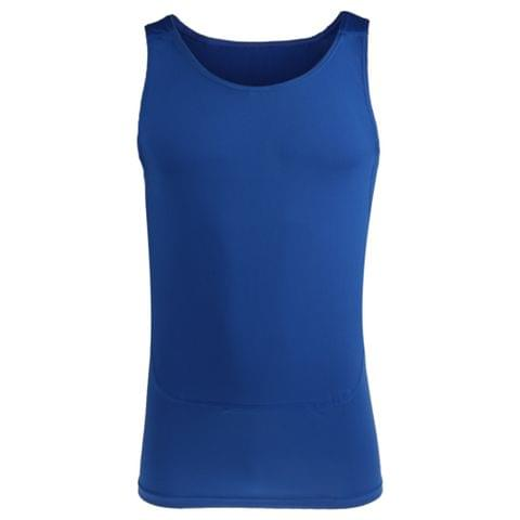 Mens Compression Vest Sleeveless Stretchable T-Shirt Athletic Tank Top Sports Fitness Basketball Hiking Cycling Clothing Blue S
