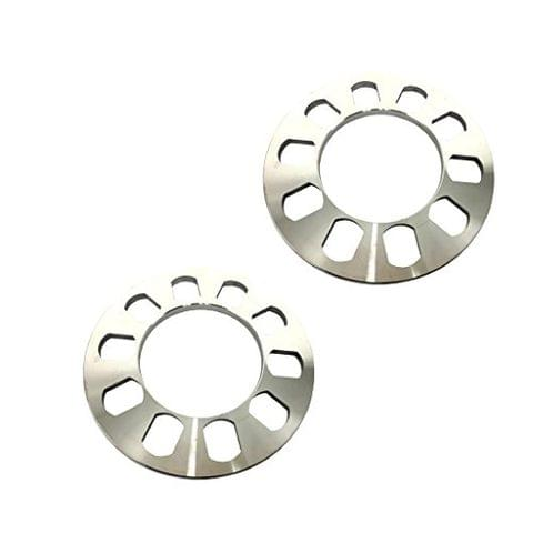 2 Pieces Aluminium 5-Hole Wheel Hub Spacer 8mm Thickness for Car Vehicles