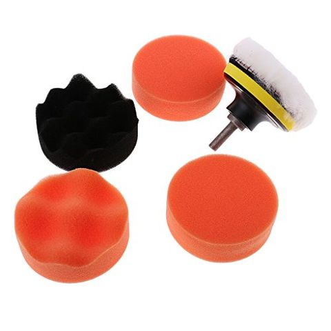 3'' Car Foam Polishing Pad Buffering Polisher Washing Cleaning Tool Kit