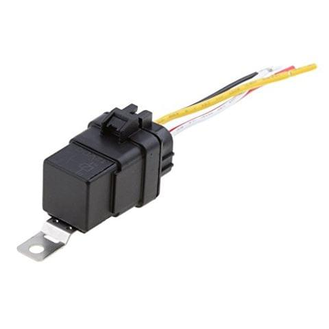 12V 40A 4 Pin Waterproof Integrated Relay and Holder Electrical Connector