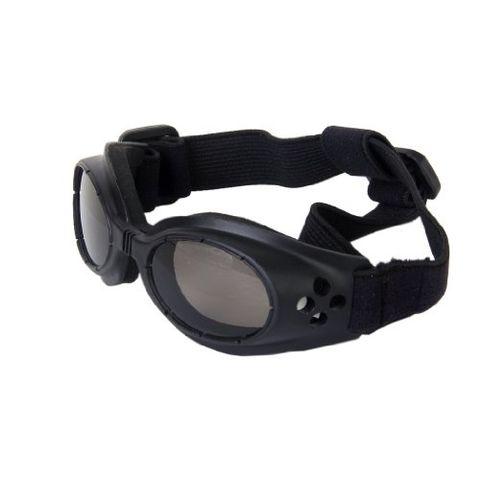 Pair of Adjustable Lightweight Comfortable Shatterproof Plastic Goggles Sunglasses Pet Supplies Black