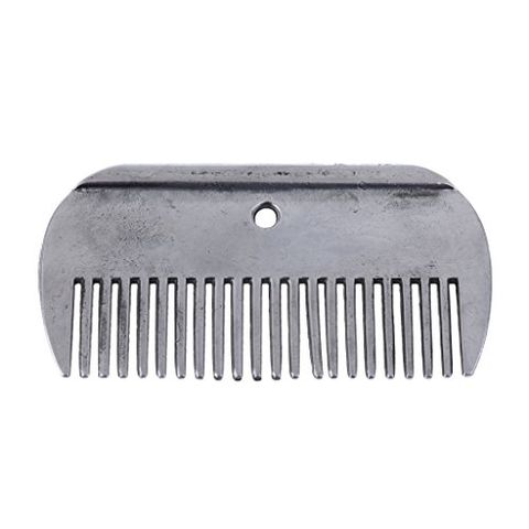 High Quality Stainless Steel Rustless Pony Horse Grooming Comb Equestrian Tools