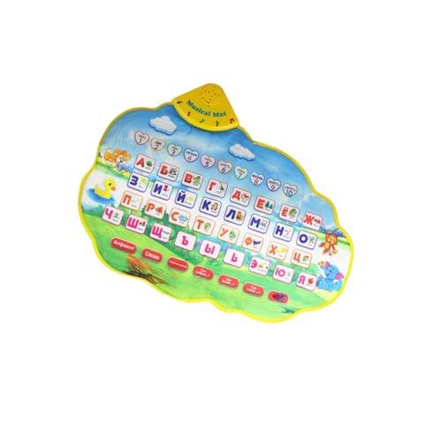 Magicdeal Kids Baby Crawling Educational Coordination Touch Play Russian Numbers Printed Musical Carpet Mat Blanket