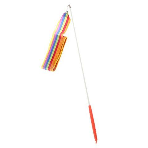 Generic 1pc Girls Dancer Gymnast Gym Dance Ribbon Rhythmic Art Gymnastic Streamer Twirling Rod Stick 4M