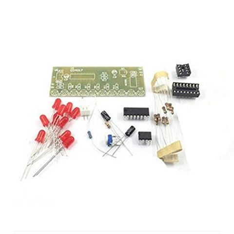 DIY Kit NE555+CD4017 10 CH LED Light Water Electronic Suite Circuit Board