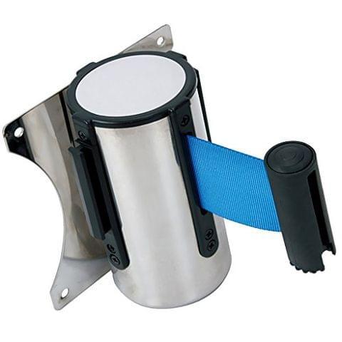 5m Heavy Duty Retractable Crowd Control Barrier Ribbon QUEUE Belts Blue