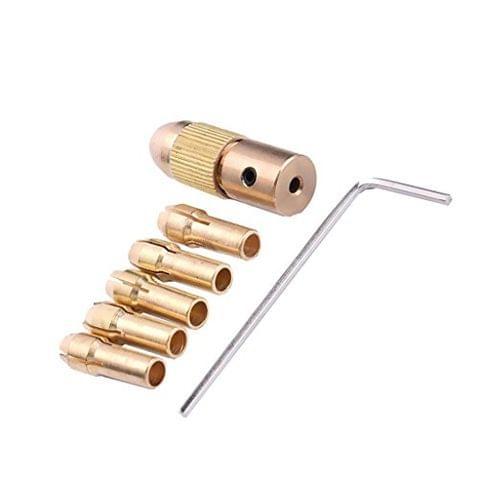 Set of 7Pcs 0.5-3mm 2.35mm Electrc Metal Drill Bit Collet Micro Twist Chuck