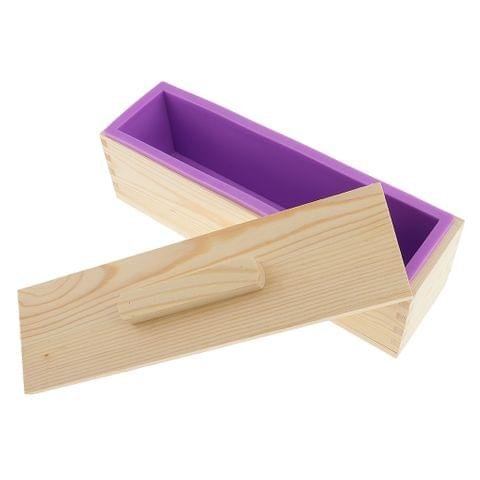 Multi-functional Rectangular Silicone Loaf Toast Bread Pastry Backing Cake Soap Handmade Mold Crafts Moulds 900ml Purple
