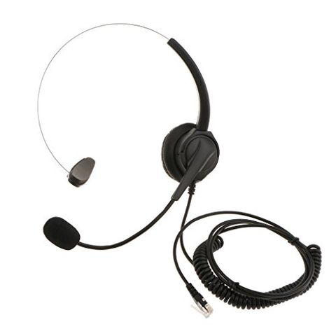 VH530 Office Insurance Call Center Desk Telephone Headset Noise Cancelling with Mic