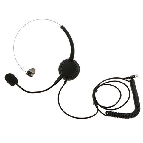 VH500 Office Call Centre Customer Service Corded Headset Microphone RJ9 Plug