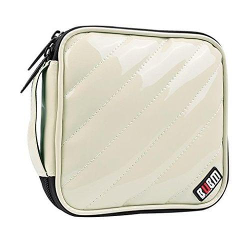 32 Discs CD DVD Blue-ray Bag Case Holder Storage Wallet Portable BUBM Beige