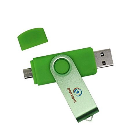 Swivel 32GB USB Flash Drive Memory Stick Storage Thumb U Disk for Smartphone PC Green