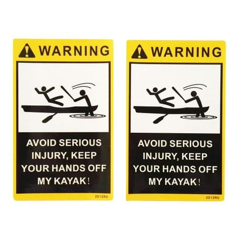 2 Pieces / Set Attention Warning Stickers Kayak Paddles Fishing Boat Canoe Car Truck Motorbike Decals