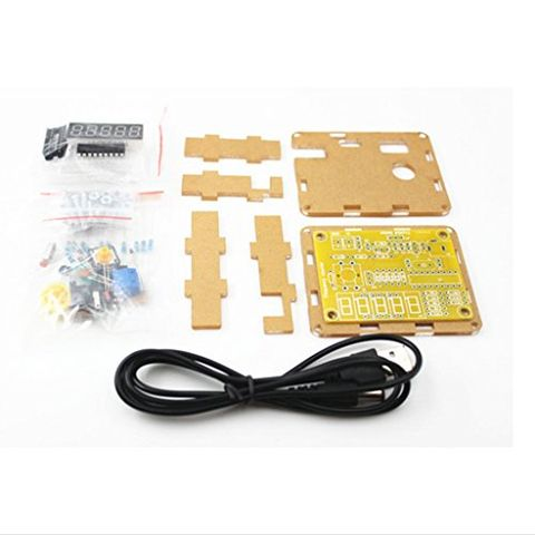 1HZ-50MHZ Crystal Oscillator Tester Frequency Counter DIY Kits with Case
