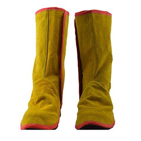 Long Cowhide Leather Welding Shoe Spats Protectors Welder Working Tool