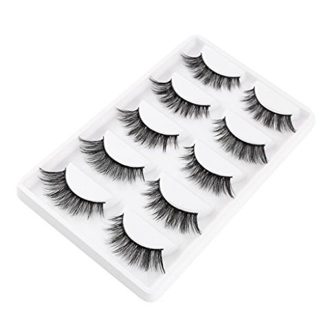 5 Pairs 3D Natural Soft Thick False Lashes Eyelashes For Eyelash Extensions Eye Makeup Beauty