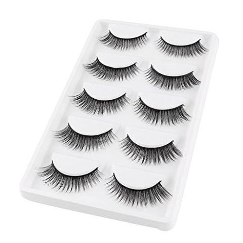 5 Pairs Natural Long Sparse&Cross Style Eye Lashes Extension False Eyelashes