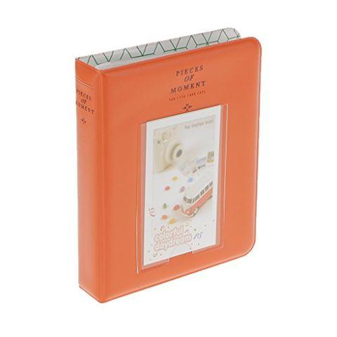 Handmade Insert Photo Picture Album Name Card Holder Storage Case Baby Wedding Family Memo Orange