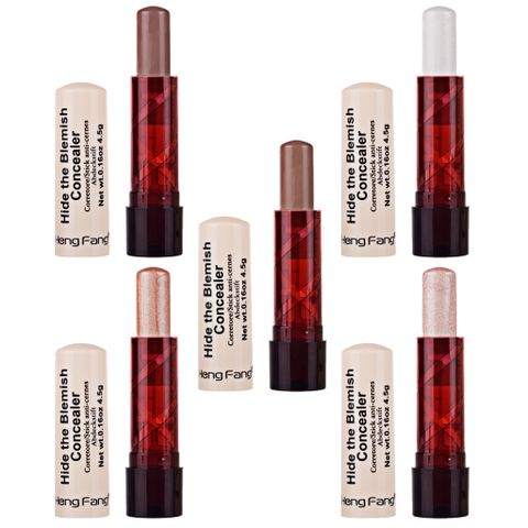 5 Colors Makeup Beauty Matte Shimmer Bronzer Highlight Contour Stick Concealer Cream Bar Set