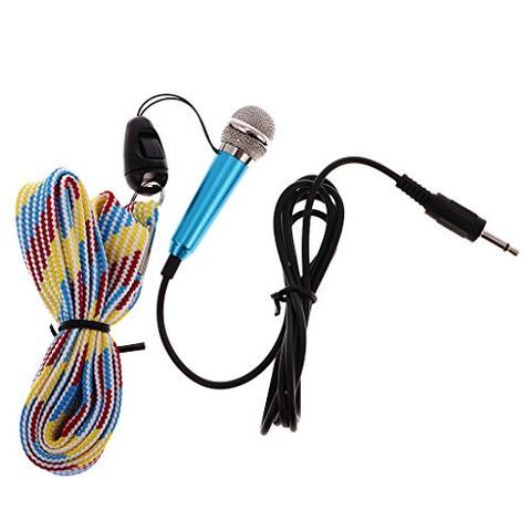 Blue Mini Handheld Microphone Mic for Portable Voice Amplifier Booster Speaker for Teachers, Coaches, Tour Guides, Presentations etc